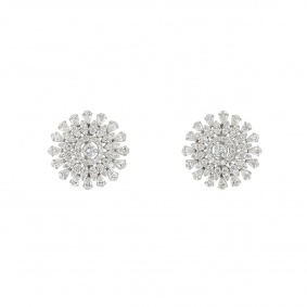 White Gold Diamond Earrings 3.15ct